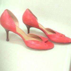 Ann Klein red stilettos